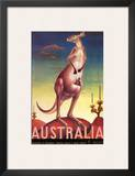 Australia  Airline & Travel Kangaroo c1957