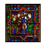 Scene in the E Window Depicting a Scene from the Life of St Catherine: with the Philosopers