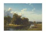 A River Landscape  Westphalia  1855