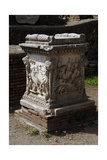 Ostia Antica Sacellum Altar of the Twins Reliefs Depicting Cupid Carrying the Chariot of Mars…