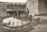The Construction of the Statue of Liberty  Detail of the Feet  C1876