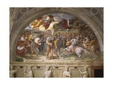 The Meeting of Leo the Great and Attila  Stanza Di Eliodoro  1514