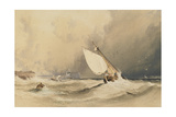 Ships at Sea Off Folkestone Harbour  Storm Approaching  1843