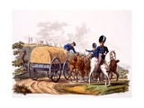 Uniform of Royal Artillery Drivers (With Wagon and Camp)  from 'Costume of the British Empire …