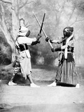 Kendo  or Japanese Fencing  C1860-80