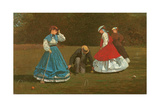 The Croquet Game  1866