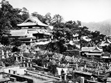 Cemetery of Honrenji Temple in Chikugo-Machi  Nagasaki  C1860-80