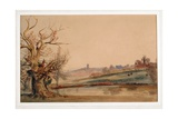 Ludlow from the Teme  C1838