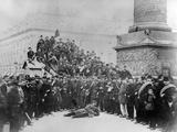 Communards in the Place Vendôme During the Paris Commune  1871