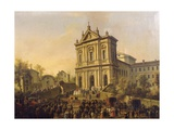 Pope Gregory Xvi's Visit to the Church of San Gregorio Al Celio  C1831-47