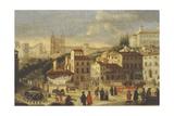 Piazza Di Spagna E Trinita Dei Monti