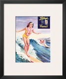 Surfer Girl  Libby's Pineapple Poster 1957