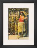 Hula Girl  Honolulu  Hawaii  c1930s