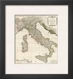 New Map of Italy with the Islands of Sicily  Sardinia and Corsica  c1790