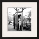 Lucinda in a Telephone Box  London  1959