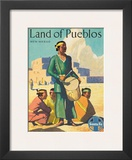 Santa Fe Railroad  Land of Pueblos  Native American Indians  New Mexico  1950s