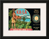 Ka-La The Sun Brand  Pineapple Label  Honolulu Fruit Company  c1940