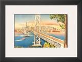 Oakland Bridge  San Francisco  California  USA
