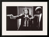 Pulp Fiction –  Duo with Guns (Jackson and Travolta) B & W Movie Poster