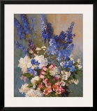 Larkspur  Peonies  And