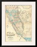 Map of the State of California  c1853