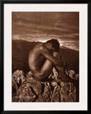 Male Nude on Rocky Outcrop  c1900