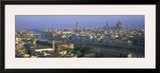 Panoramic view of Florence across Arno River