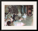 The Rehearsal of the Ballet on Stage  c1874