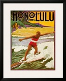 Surfing  Tourist Booklet  Honolulu  Hawaii  c1918