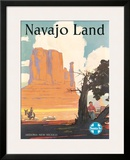 Santa Fe Railroad: Navajo Land  c1954