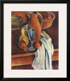 Still Life (Stone Jug  White Serviette and Fruit)