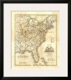Map of The United States  c1845