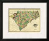 Map of North and South Carolina  c1823