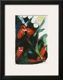 Four Foxes   Postcard to Kandinsky  c1913