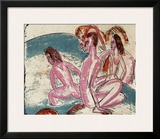 Three Bathers by Stones