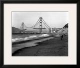 Golden Gate Bridge under Construction  From Baker Beach  c1936