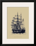 Antique Ship in Blue II
