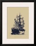 Antique Ship in Blue I
