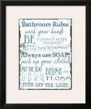 Bathroom Rules White