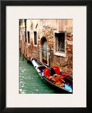 Gondola by a Brick Wall  Venice