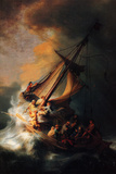 Rembrandt Christ in the Storm on the Lake Genezareth Plastic Sign