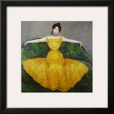 Lady in Yellow  c1899