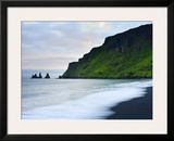Black Sand Beach and Reynisdrangur Sea Stacks  Vik  Cape Dyrholaey  South Coast  Iceland