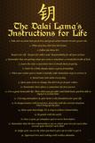 Dalai Lama (Instructions For Life) Plastic Sign