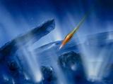 Artwork of Deep Impact Impactor Hitting Comet