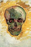 Vincent Van Gogh Skull Plastic Sign