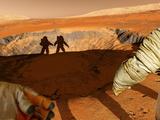Two Astronauts on Mars  Artwork