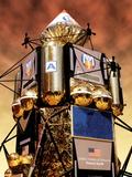 Spacecraft on Mars  Artwork