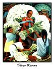 Diego Rivera (Vendedores de Flores) Plastic Sign