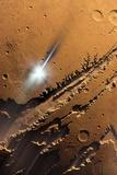 Asteroid Impact on Mars  Artwork